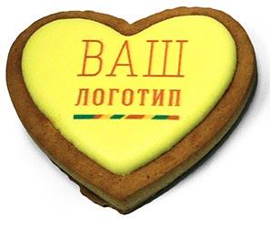 Рекламное печенье - сердце