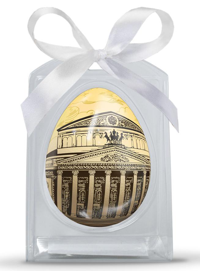 Шоколадное яйцо с печатью в коррексе