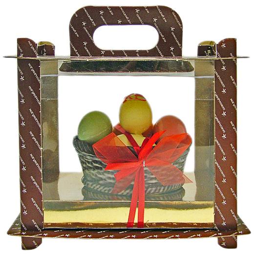 Шоколадная скульптура – пасхальные яйца в корзинке