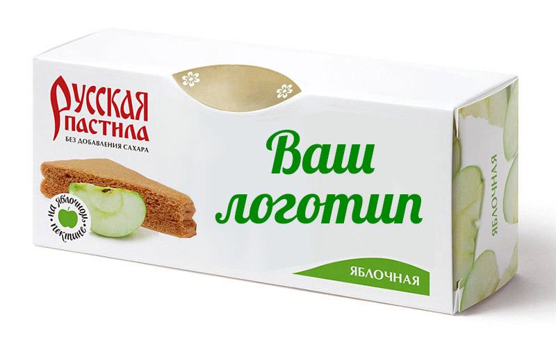 Русская яблочная пастила в упаковках с логотипом