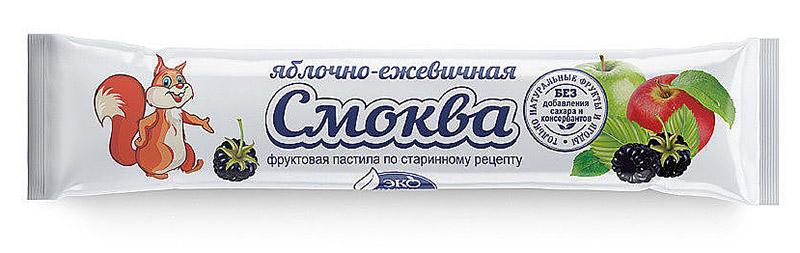 Яблочная пастила смоква в коробочках и пакетиках с логотипом