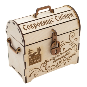 Экоподарки из Сибири в деревянных коробочках