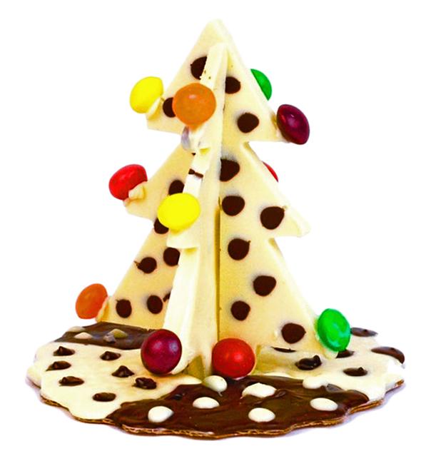 Шоколадная фигурка в форме 3D-ёлочки