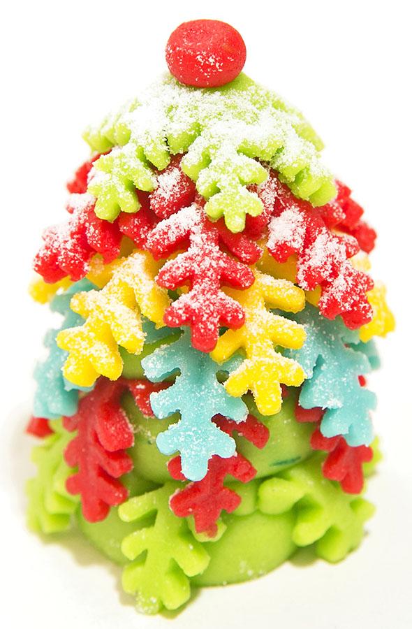 Марципановая елочка, подарок на Новый год