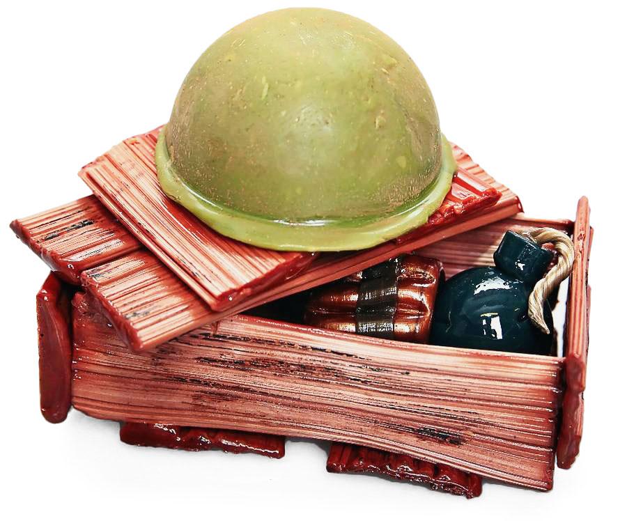 Ящик с патронами из карамели