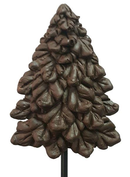 Фигурка елочки из шоколада на палочке