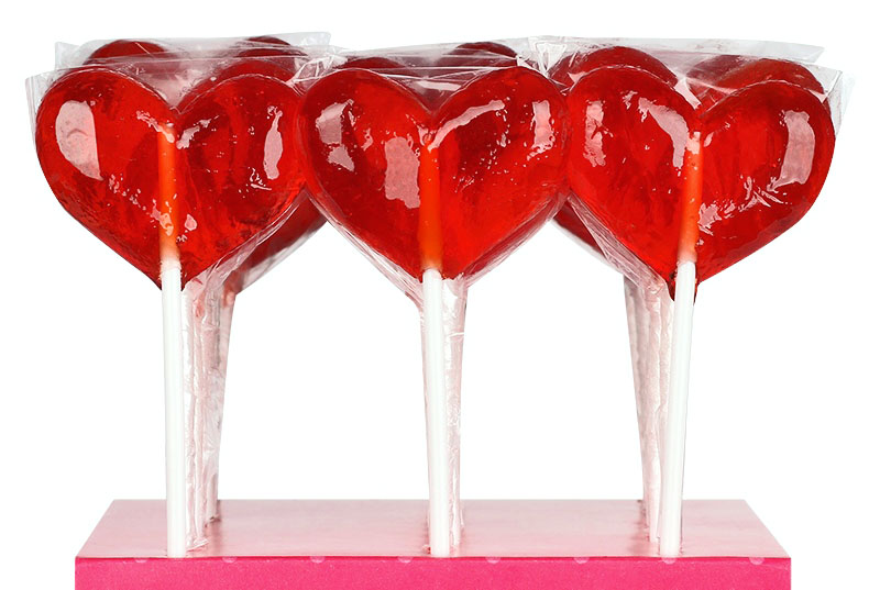 Леденцы на палочке - сердечки 16 г