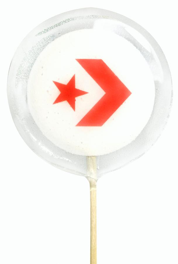 Прозрачные леденцы на палочке с логотипом