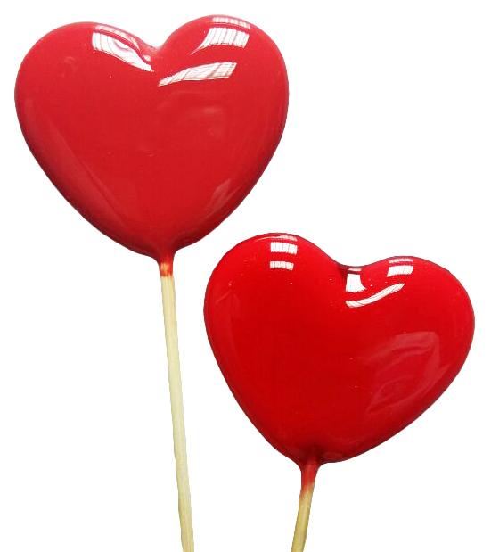 Леденцы-сердечки с проявляющимся изображением