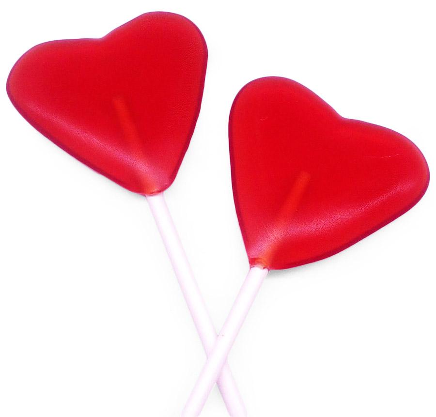 Леденцы в форме сердечка