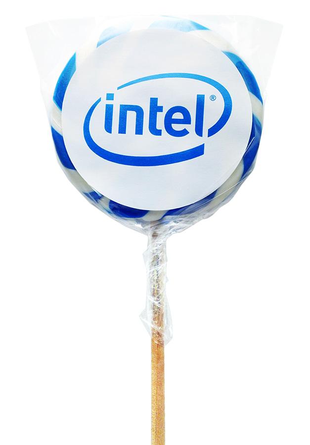 Леденец-спираль в упаковке с логотипом