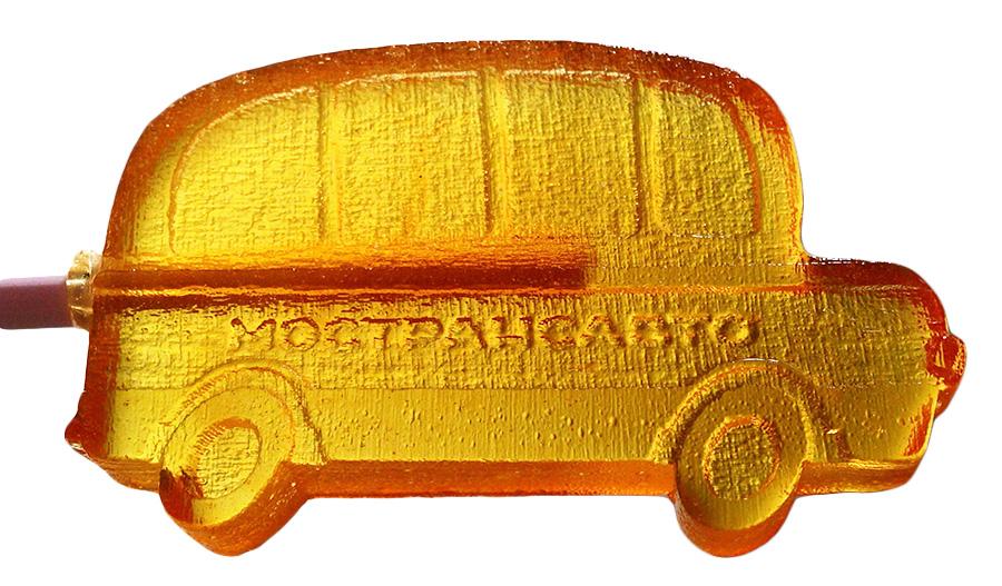 Леденец в форме автобуса