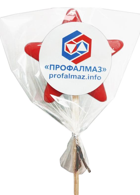 Леденец на палочке с логотипом