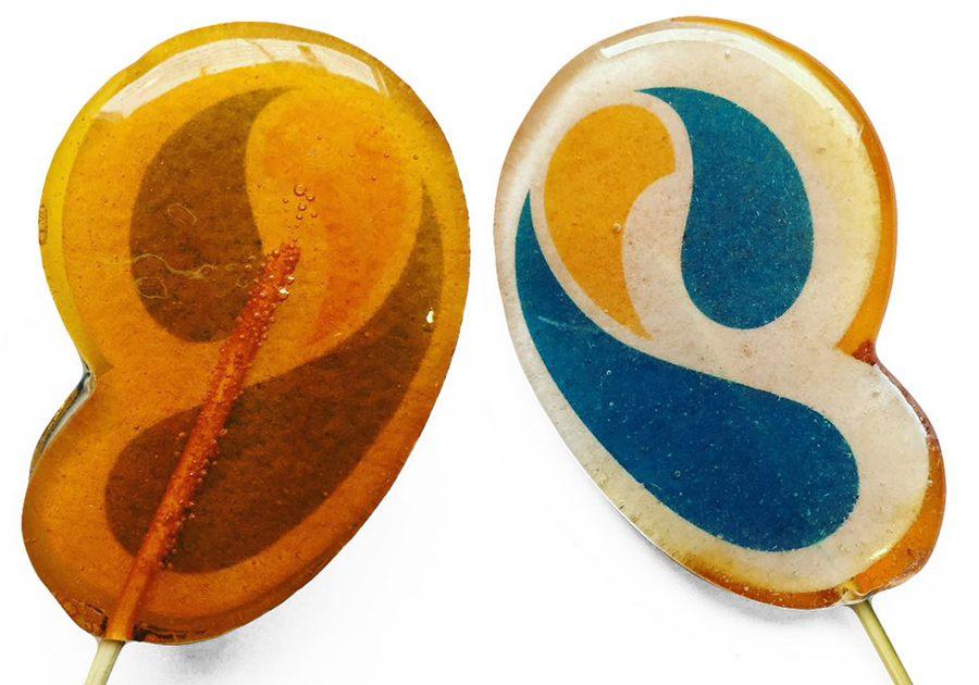 Леденцы на палочке с полноцветным логотипом