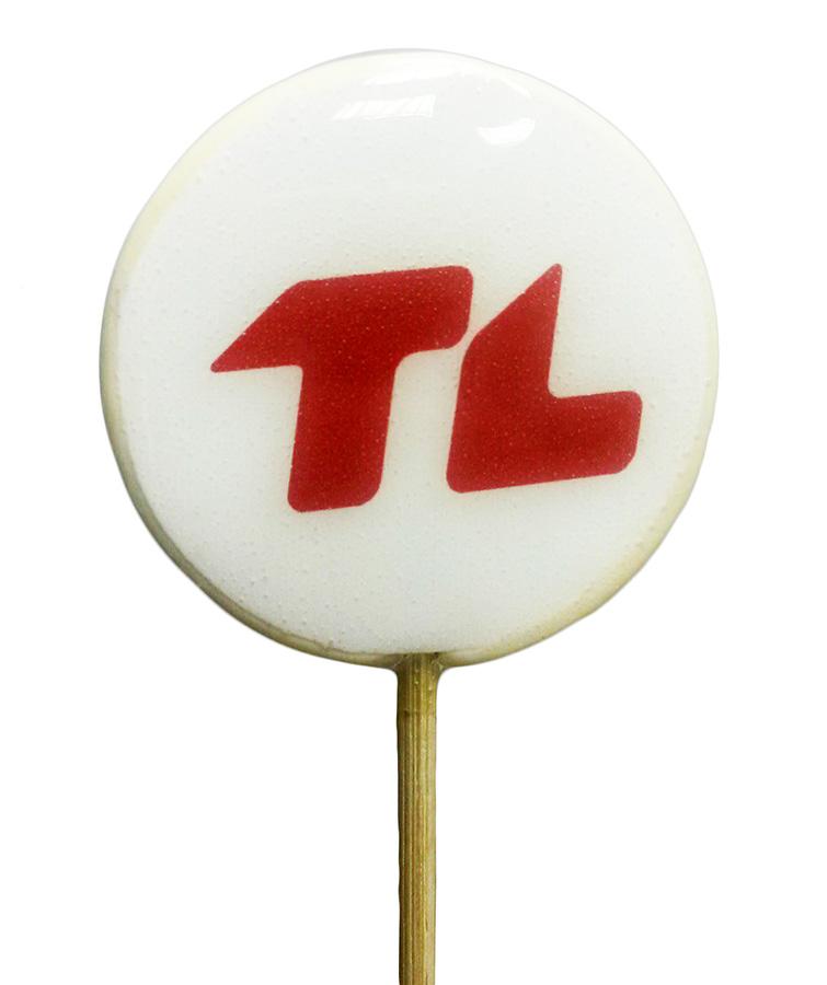 Леденцы с логотипом на палочке