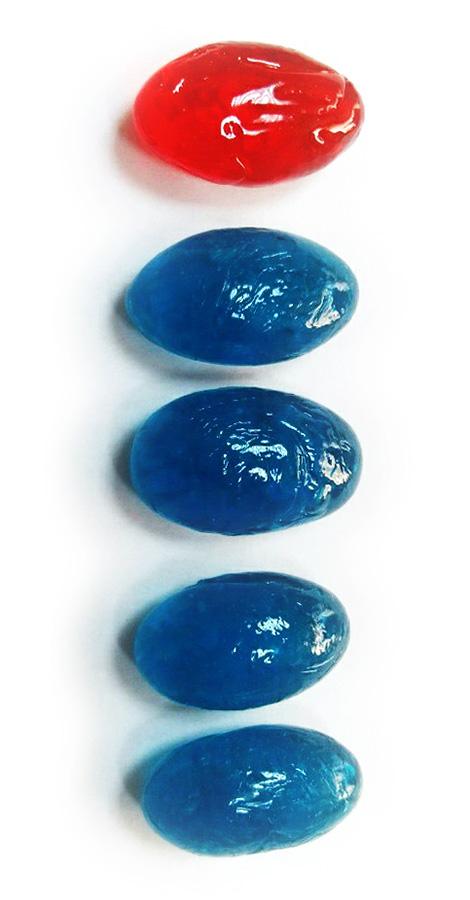 Цветные леденцы-пилюли с логотипом