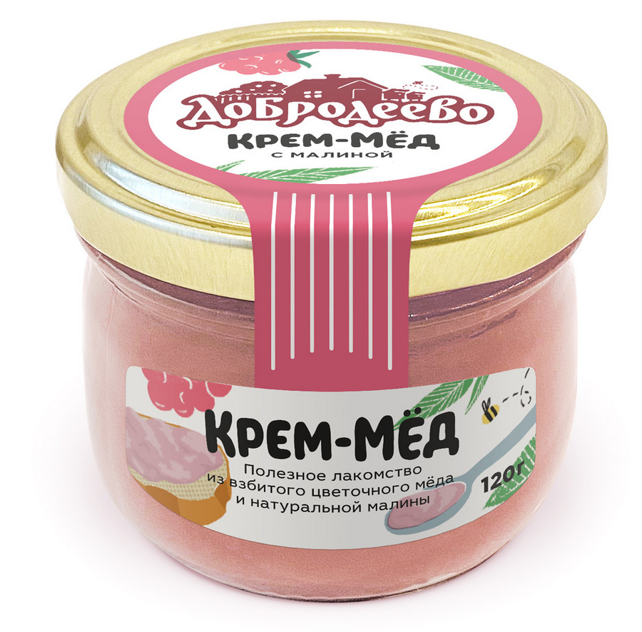 Крем-мед в баночках с логотипом