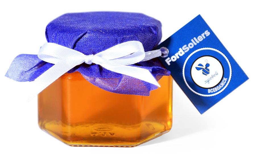 Мед с логотипом