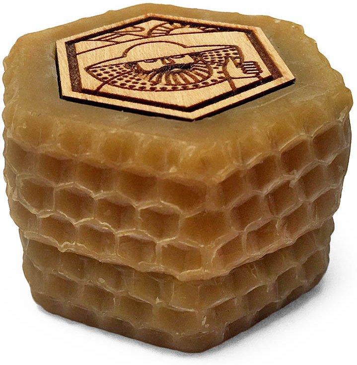 Мёд в восковых баночках с логотипом