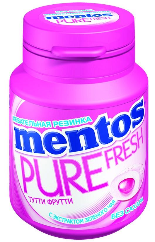 Жевательная резинка Mentos White в банке