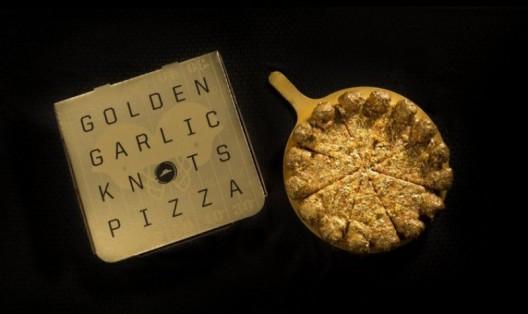 Пиццу с настоящим золотом приготовили в США