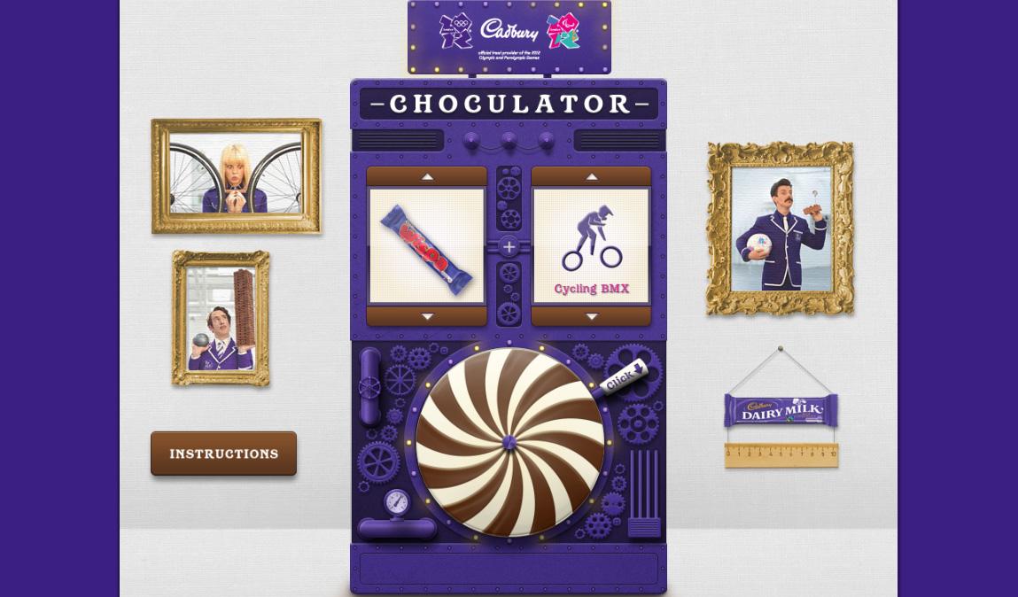 Шоколадный конвертер олимпийских побед от Cadbury