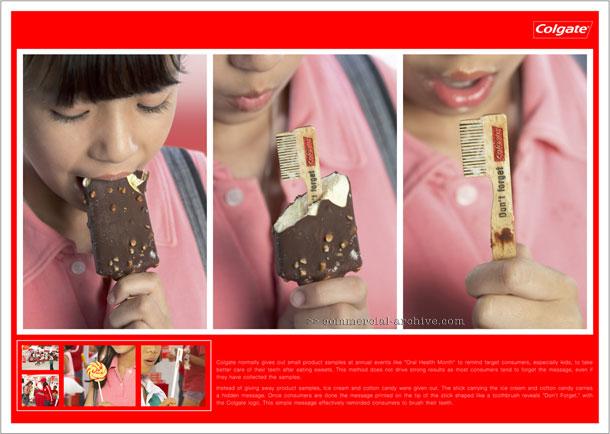 Реклама зубной пасты в мороженом!