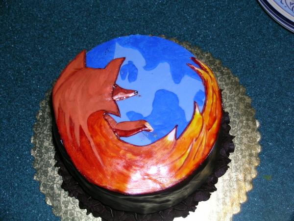 Рекламный торт Mozilla Firefox