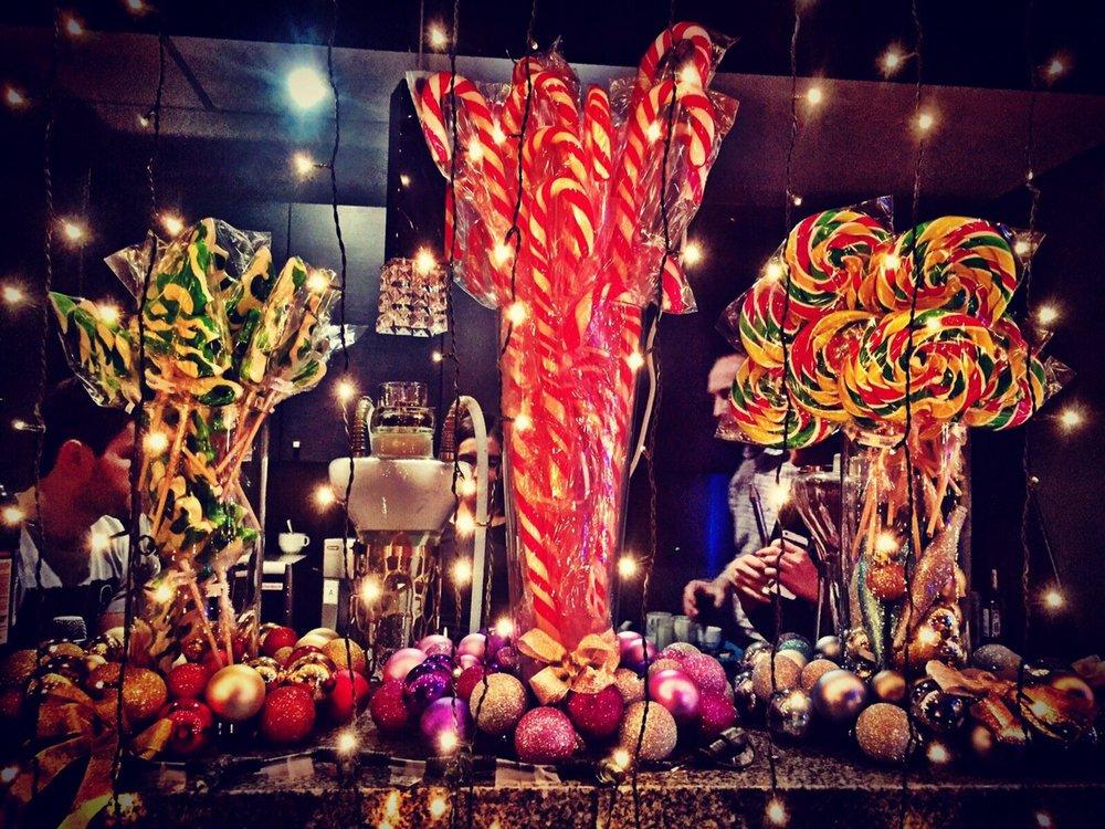 Новогодние леденцы-спирали, ёлочки, трости