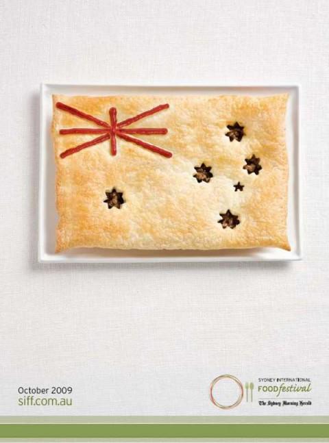 Аппетитная реклама - флаги из национальных продуктов. Австралия