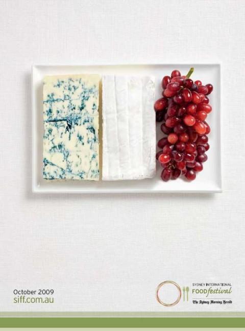 Аппетитная реклама - флаги из национальных продуктов. Франция