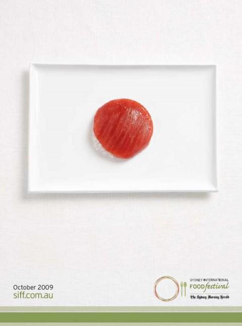 Аппетитная реклама - флаги из национальных продуктов. Япония