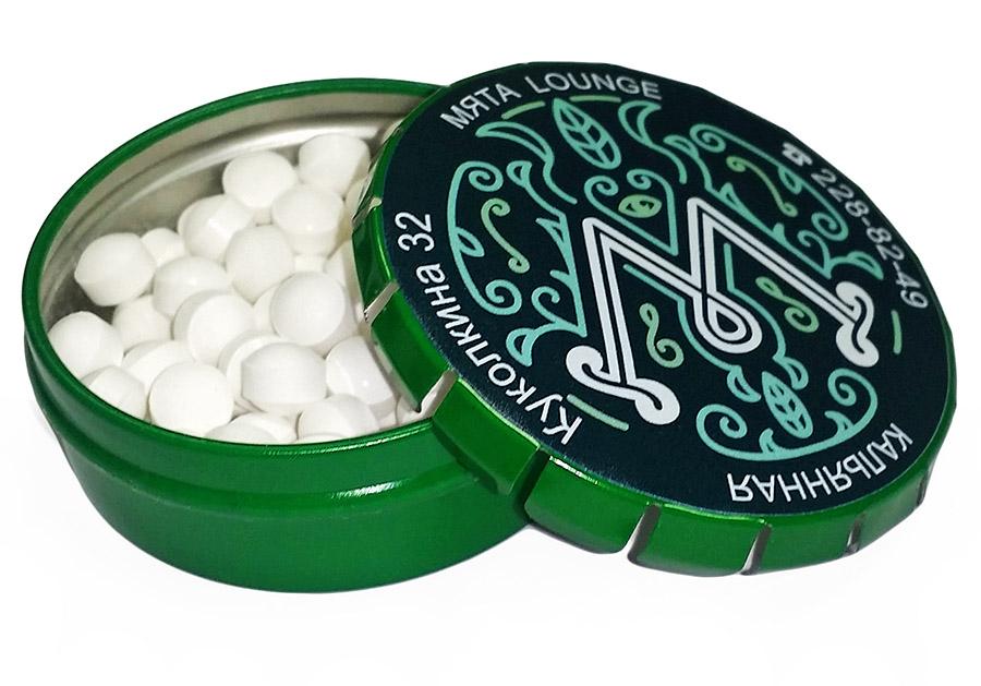 Съедобные сувениры в зеленой баночке клик-клак