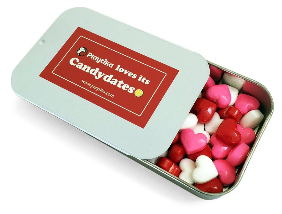 Освежающие конфеты в металлической баночке
