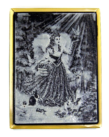 Новогодний пряник в шоколаде с рисунком