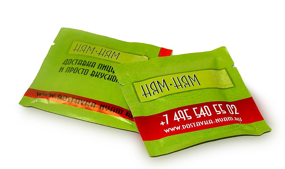 Влажные салфетки с логотипом