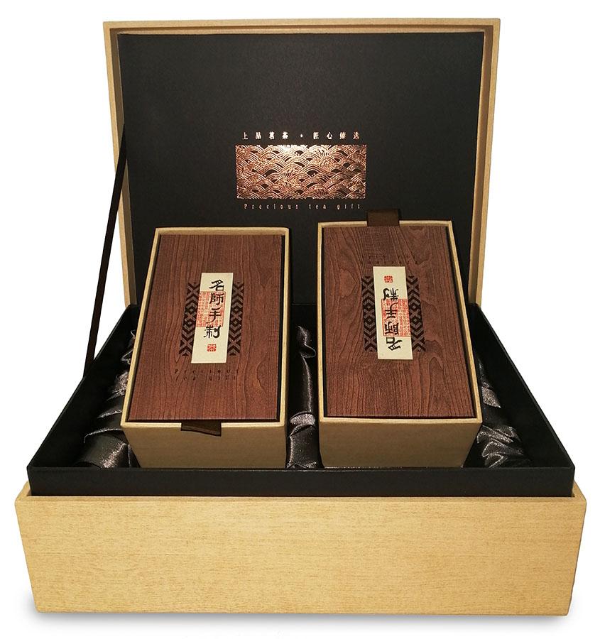 Набор № 5. Две коробочки с чаем в деревянном сундучке