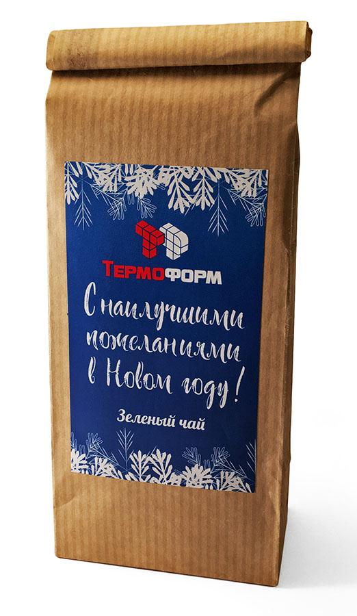 Чай в пакетах из крафт-бумаги с логотипом
