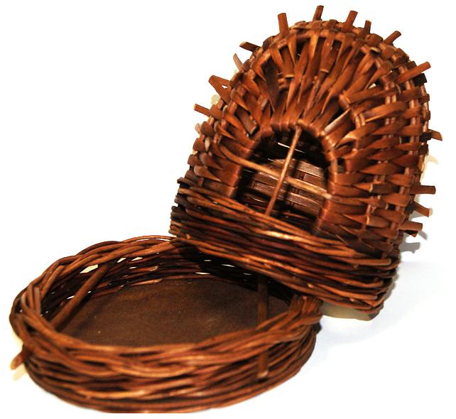 Подарочная упаковка для чая из лозы в форме берлоги
