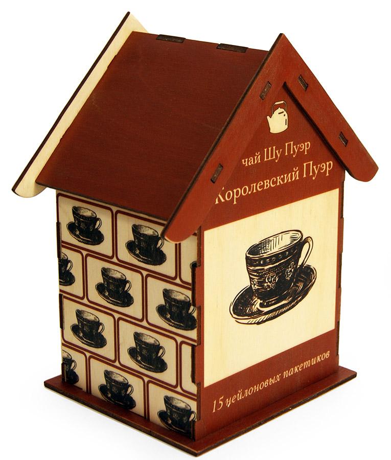 Подарочные наборы чая в коробочках из фанеры, массива и лозы