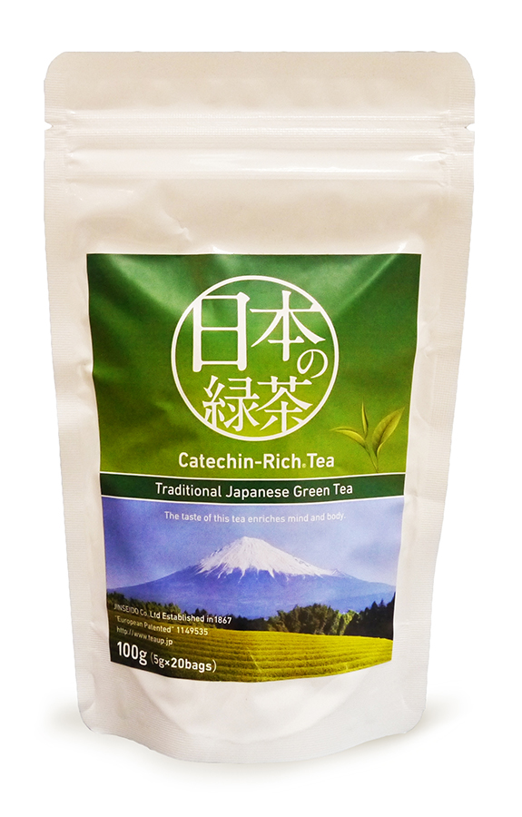 Японский зеленый чай Jinseido в упаковках с логотипом
