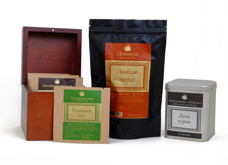 Чай в упаковках с логотипом
