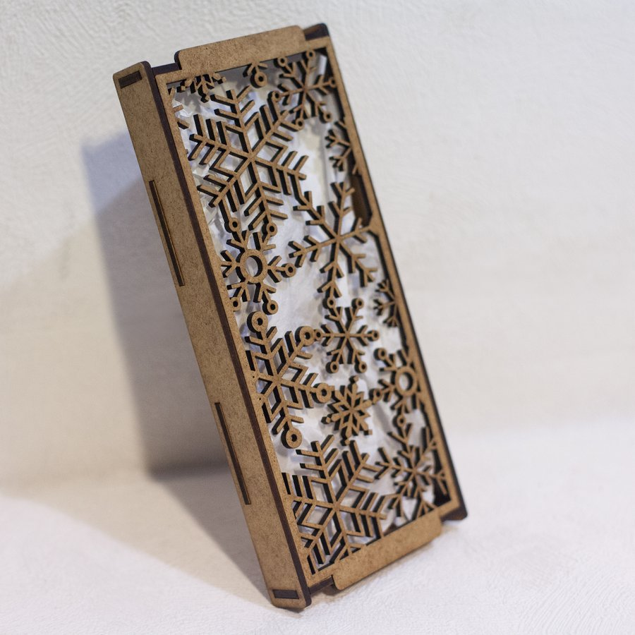 Подарочная упаковка под плитку шоколада