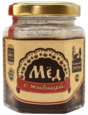 Мёд сибирский с живицей